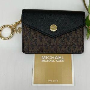 Michael Kors Small Flap Key Ring Card Case